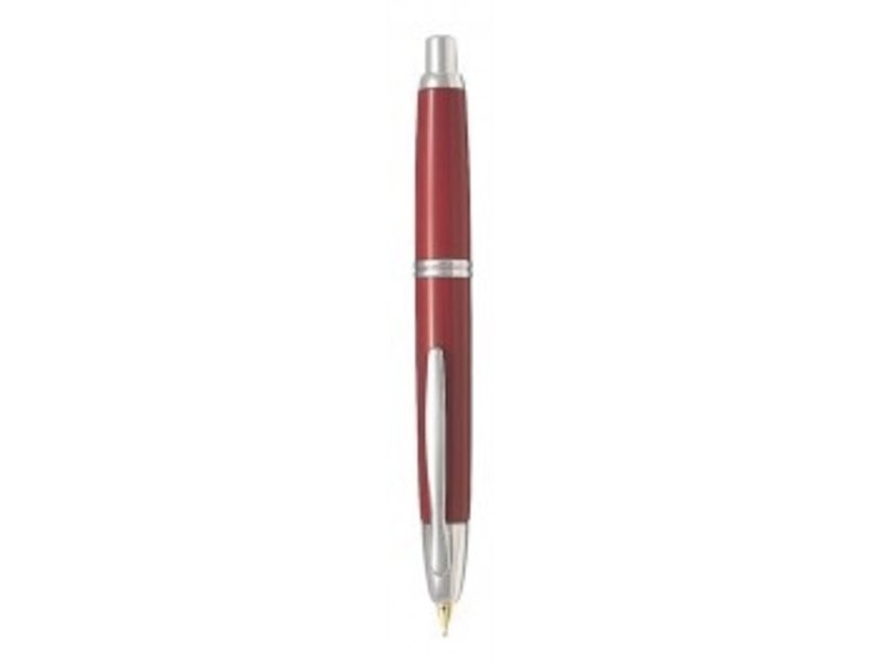 PILOT PILOT CAPLESS FOUNTAIN PEN FINE RED/SILVER