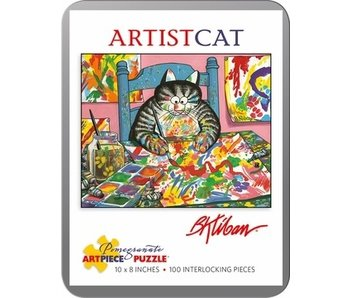 POMEGRANATE ARTPIECE PUZZLE 100 PIECE: ARTIST CAT