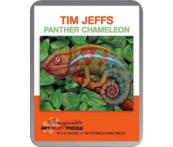 POMEGRANATE ARTPIECE PUZZLE 100 PIECE: TIM JEFFS PANTHER CHAMELEON