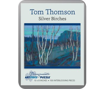 POMEGRANATE ARTPIECE PUZZLE 100 PIECE: TOM THOMPSON SILVER BIRCHES