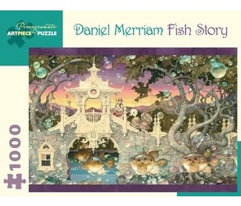 POMEGRANATE ARTPIECE PUZZLE 1000 PIECE: DANIEL MERRIAM FISH STORY