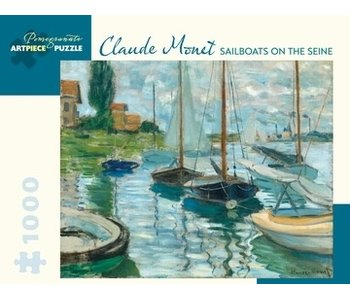 POMEGRANATE ARTPIECE PUZZLE 1000 PIECE: MONET SAILBOATS ON THE SEINE