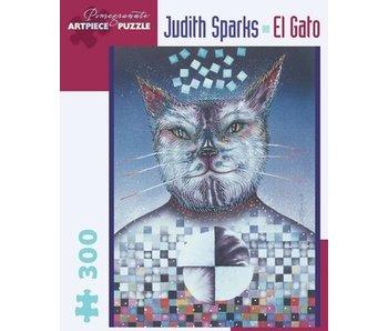 POMEGRANATE ARTPIECE PUZZLE 300 PIECE:  SPARKS EL GATO