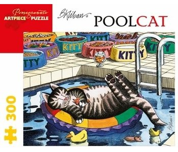 POMEGRANATE ARTPIECE PUZZLE 300 PIECE: B KLIBAN POOL CAT