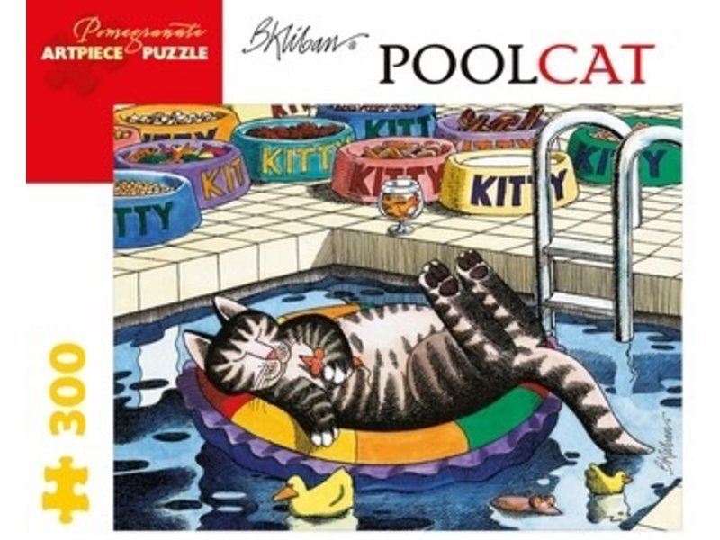 POMEGRANATE ARTPIECE PUZZLE 300 PIECE: B KLIBAN POOL CAT