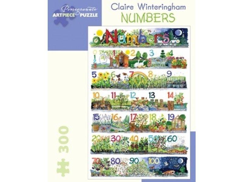 POMEGRANATE ARTPIECE PUZZLE 300 PIECE: CLAIRE WINTERINGHAM NUMBERS