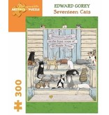 POMEGRANATE ARTPIECE PUZZLE 300 PIECE: GOREY SEVENTEEN CATS