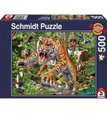 THINKPLAY SCHMIDT PUZZLE 500: TIGER ATTACK