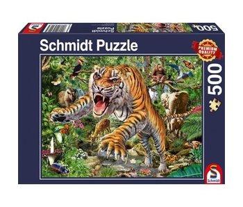 LION RAMPANT IMPORTS SCHMIDT PUZZLE 500: TIGER ATTACK
