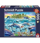 THINKPLAY SCHMIDT PUZZLE 500: DOLPHIN REEF
