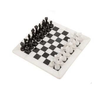 THINKPLAY CHESS SET: BLACK & WHITE ONYX