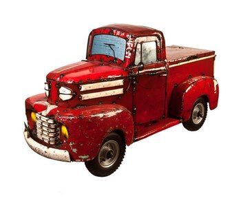 EEIEEIO EEIEEIO STEEL PICK-UP TRUCK COOLER - RED