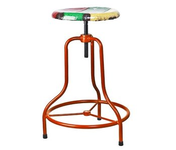 EEIEEIO EEIEEIO STEEL TWIST STOOL ORANGE