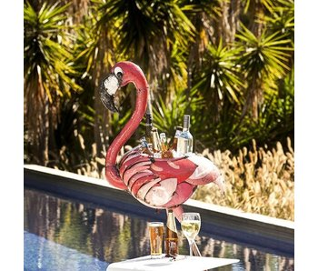 EEIEEIO EEIEEIO STEEL ANIMAL FLORENCE FLAMINGO BEVERAGE HOLDER