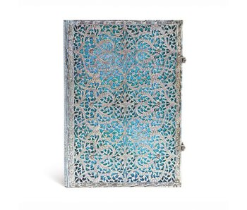 PAPERBLANKS PAPERBLANKS JOURNAL 8x12 UNLINED HC SILVER FILIGREE MAYA BLUE
