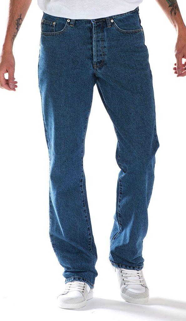 Full Blue 5 Pockets Regular Fit Jeans 42-72