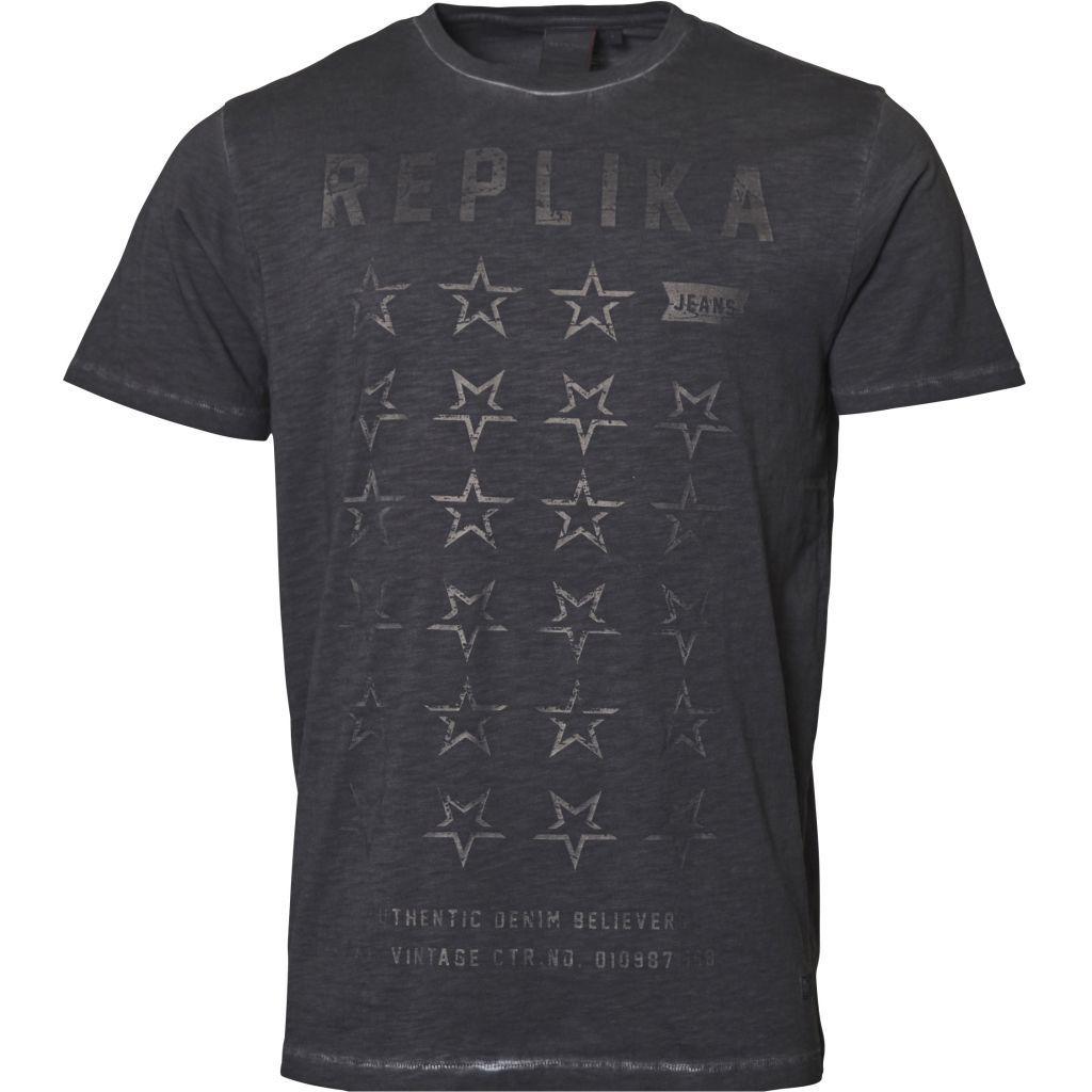 Replika Jeans Faded printed  T-Shirt