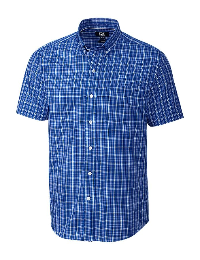 Cutter & Buck CB S/S EASY CARE LEO PLAID