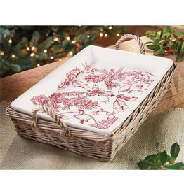 TOILE RECTANGLE BAKER W/LID