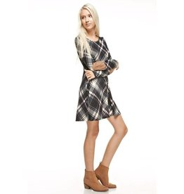 Plaid Elbow Patch Dress