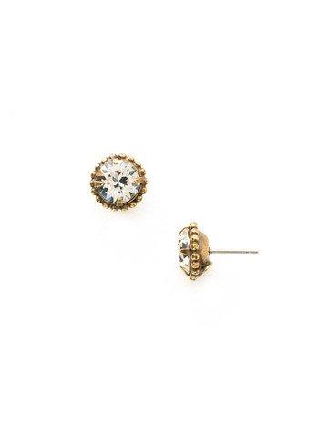 Sorrelli Ag Simplicity Stud Earring Crystal