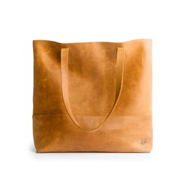 Fashionable Fashionable Mamuye Leather Tote - Cognac