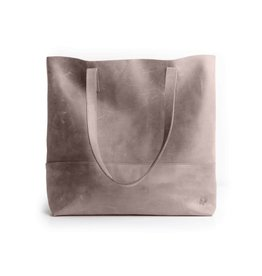 Fashionable Fashionable Mamuye Leather Tote - Pewter