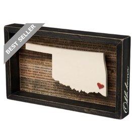 BOX SIGN- OKLAHOMA