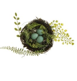 "5"" FERN NEST WITH EGGS"