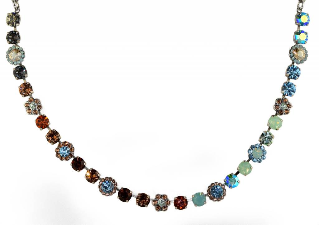 Mariana MARIANA SILVER FORGET ME NOT MIXED ELEMENT NECKLACE