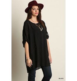 HIGH COLLARED SHIRT TUNIC