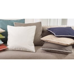 "CLASSIC CORD TRIM PILLOW GREY 22"" SQUARE"
