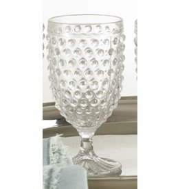 HOBNAIL GOBLET GLASS 13.53 OZ CLEAR