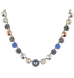 Mariana MARIANA SILVER COSMO 2 LARGE MIXED ELEMENT NECKLACE