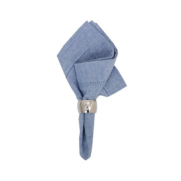HEMSTITCH BLUE NAPKIN