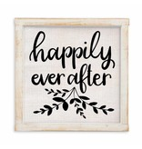 HAPPILY EVER AFTER LINEN SIGN