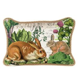 MICHEL GARDEN BUNNY RECTANGULAR PILLOW
