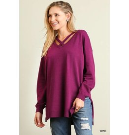 CHICA HI LOW SWEATER TOP