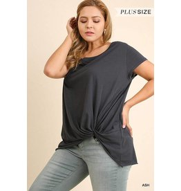 SCRUNCHED UP SHORT SLEEVE TOP