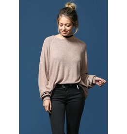 BY TOGETHER L/S 2 TONE BRUSH SUPER SOFT PULLOVER SWEATER