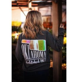 Calamity Jane's OKLAHOMA MIXED COLOR PALETTE L/S TSHIRT
