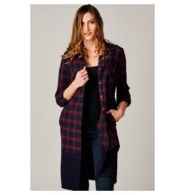 DEAR JOHN JEANS LEXI ROLL SLV SHIRT DRESS