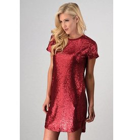 SEQUIN DRESS W/ SHIRT TAIL BOTTOM
