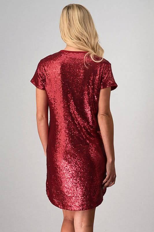 SEQUIN DRESS W/ SHIRT TAIL BOTTOM