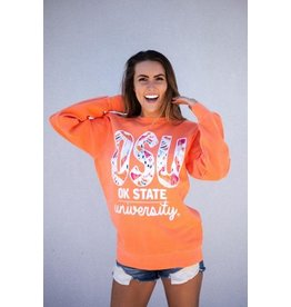 Calamity Jane's OSU BALI IKAT LONG SLEEVE COMF COLORS