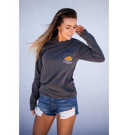 Calamity Jane's OSU LEOPARD BACK LONG SLEEVE COMF COLOR
