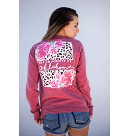 Calamity Jane's OU LEOPARD BACK LONG SLEEVE COMF COLOR