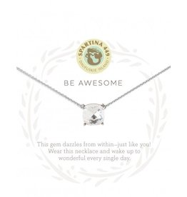 """SEA LA VIE NECKLACE 18"""" AWESOME/CRYSTAL SIL"""