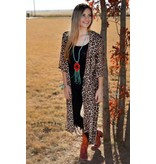 CRAZY TRAIN DIXIE -LEOPARD PRINT DUSTER ONE SIZE