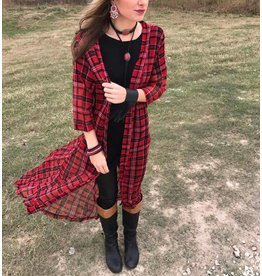 MAD FOR PLAID DUSTER - ONE SIZE